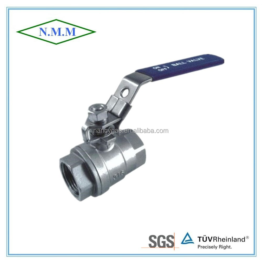 Stainless Steel 316 2PC ball valve, Full Bore, Threaded End, 1000WOG, PN63