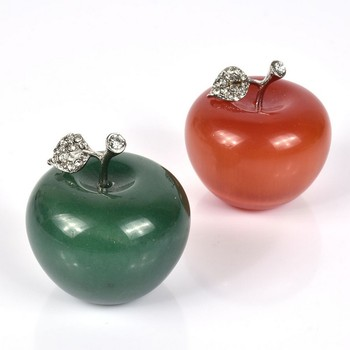 Various colors of natural green aventurine apple for christmas present