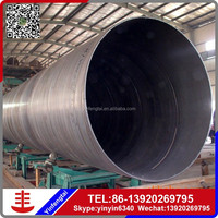 C200 black water spiral welded steel pipe for pipeline conveyance system