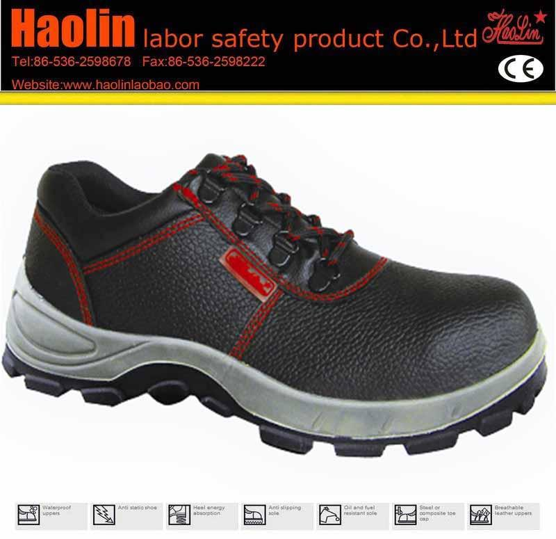 HL-A005 PU Outsole Material and genuine leather deltaplus safety shoes