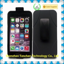 2016 New!!!!!!! Defender Case with Belt Clip for IPhone 6+, hard PC +Silicone armor combo case