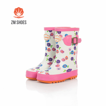 Girl like Children rubber rain boots long high with best price of manufacture
