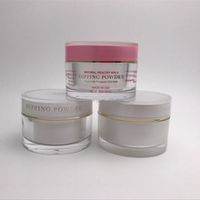 Printing gel polish pot 1 oz 1.7 oz 2 oz clear round acrylic cosmetic plastic jars
