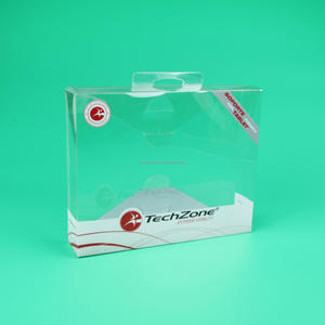 Custom made PET PVC PP Clear Plastic Box Transparent Color print Portable Flat Folding Gift boxes
