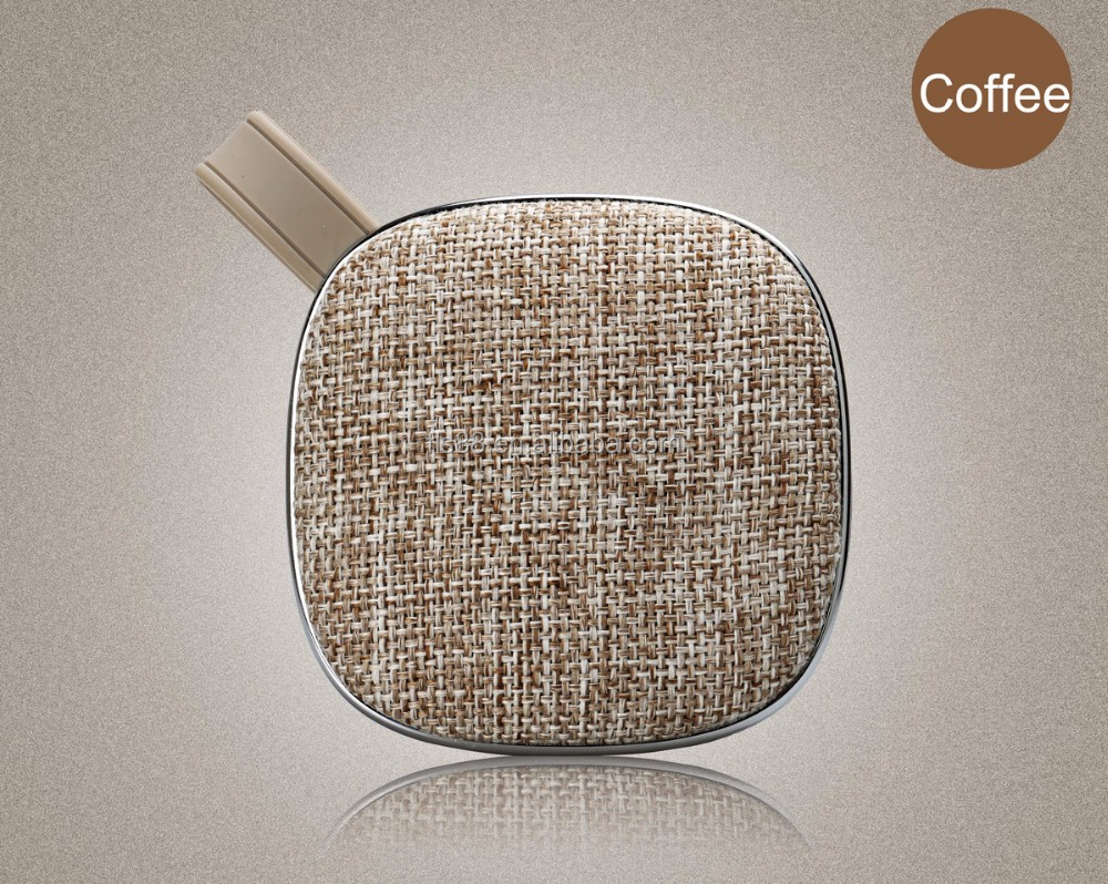 Cloth Cover Bluetooh Speaker Mini Portable Fabric Speaker Wireless Stereo Speakers with hook