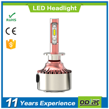 NEW products wholesale automobile lamp canbus headlight H3 high lumen 6000lm super bright car chip auto light LED bulb lighting