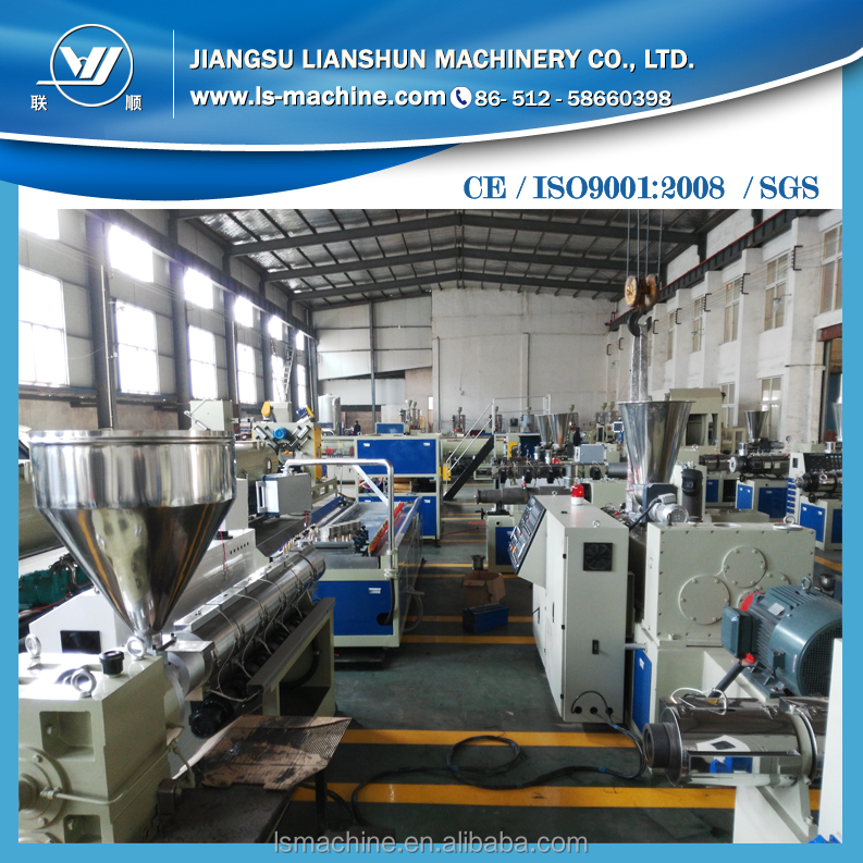 PVC WPC profile making manufacturing extrusion machine