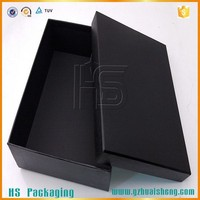 luxury matt black cardboard wig packaging box