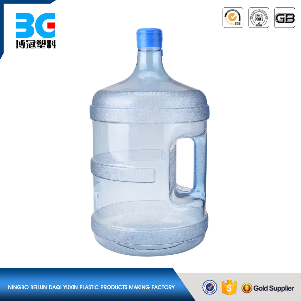 Hot sale 5 gallon plastic water bottle with handle