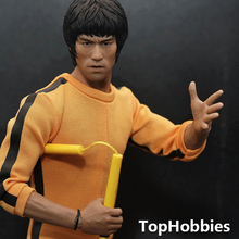 "Custom 1/6 Scale Bruce Lee Head Sculpt For Hot Toys Figure Body for 12"" Action Figure doll Toys soldier model"