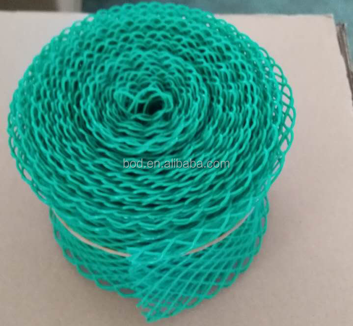 green extruded mesh sleeve