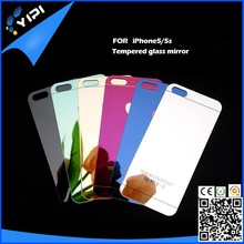 Colorful Premium Tempered Protective Mirror Effect Glass Film screen protector for iphone5