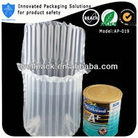 2014 high quality plastic air column bag for packing milk powder can