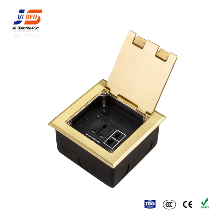 JS-DC146 with CE,RoHS,CCC panels electrical industrial usb power socket outlet floor boxes