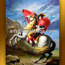 High quality Home decor hotel wall art customized modern waterproof beautiful running horses painting