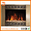 Wall mounted Curved PU Decor flame effect electric fireplace heater