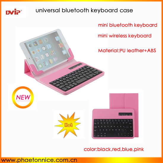 "7"" Inch Universal Keyboard Leather Case for 7inch MID,best quality PU leather case Keyboard Stand folder"