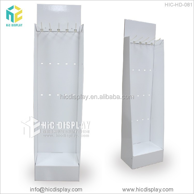 Printing design cardboard carpet sample display rack