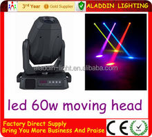 60w led beam moving head stage lighting lyres