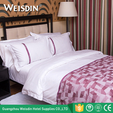 China supplier wholesale yarn dyed spread queen size cotton bed linen for hotels