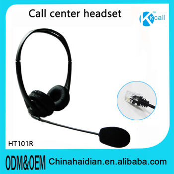 OEM ODM DC3.5 RJ9 RJ11 plug headphone earphone with Mic for call center headset service