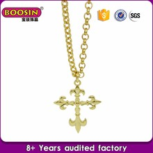 high quality fashion cross necklace new gold chain design for men