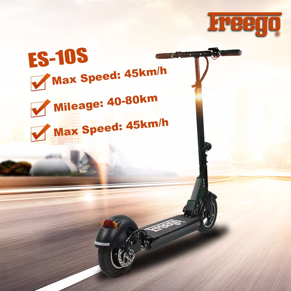 10 inch fashionable foldable electric scooter 48V 500W Kick Stand Up Folding scooter with front lights