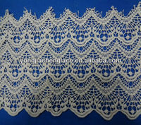 Factory YJC11385 scalloped edge lace fabric