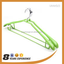 cheapest anti slip plastic coated metal wire clothes hanger