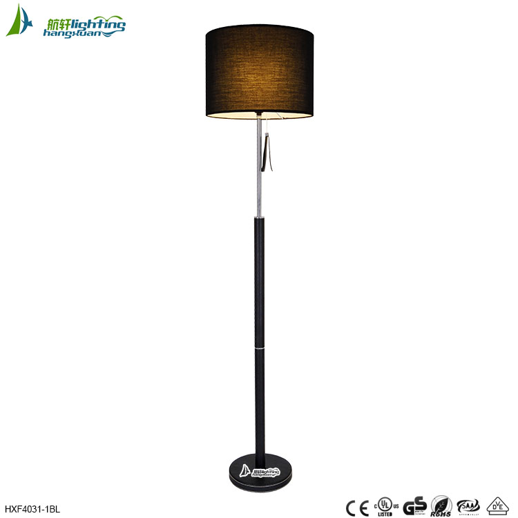 Wholesale Chinese halogen adjustable floor lamp with black shade ...