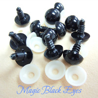 Black Plastic Eyes with Washer for Plush Toys Bear DIY