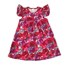 Summer newest cartoon print girls dress frock designs for small girls new flower dress