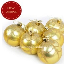 shiny orange plastic christmas ornament balls