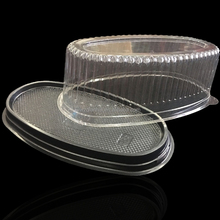 disposable plastic cake tray with lid