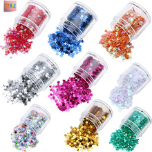 Clother Decoration Five Star Glitter Sequins with Multi Color