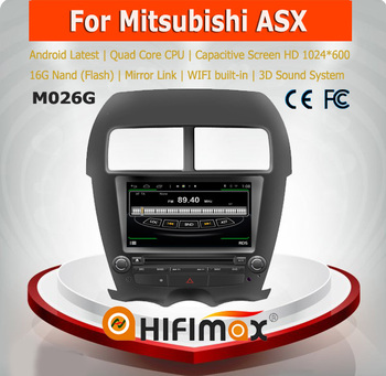 HIFIMAX Android 4.4.4 quad core 16G car radio for Mitsubishi ASX car stereo car multimedia system 2 din touch screen HD 1024*600