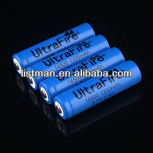 UltraFire TR 14500 3.7V 1200mAh Rechargeable Li-ion Batteries