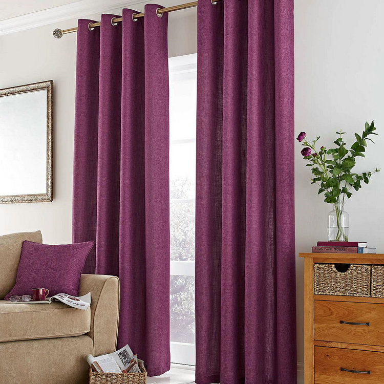 Home Decor Lined Eyelet Curtains