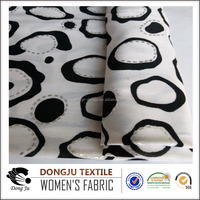 2017 Dongju Textile Knit Heart Pattern Printed Poly FDY Spandex Shirting Fabric