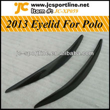 2013 Carbon Fiber Eyelid , Car Front Eyebrow For VW Polo