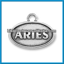 zodiac signs jewelry oval aries charm(186738)