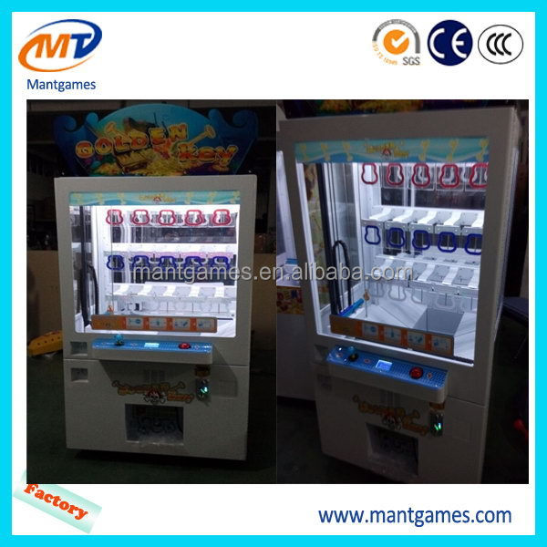 Fruit ninja prize machine/hot sale mini key master/coin operated claw toy crane machine