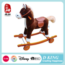 Hot Sale Kids Mechanical Walking Ride On Toy Pony Plush Rocking Horse On Wheels