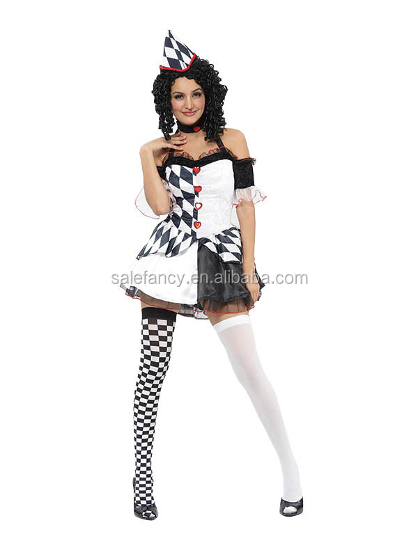 Sexy Harlequin Jester Clown Circus Scary Clown Costume For Women Qawc-2050 - Buy Scary Clown CostumeHarlequin CostumeJester Costume Product on Alibaba.com  sc 1 st  Alibaba & Sexy Harlequin Jester Clown Circus Scary Clown Costume For Women ...