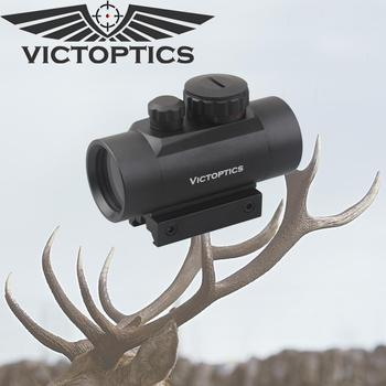 Victoptics 1x35 Green Red Dot Scope 21mm Weaver 11mm Dovetail Twin Mount w/ Caps