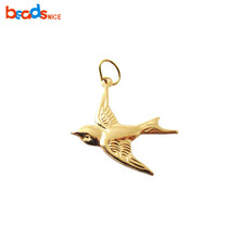 Beadsnice ID 25928 14K Gold Filled Lightweight Flying Sparrow Bird <strong>Charm</strong> 14k gold filled