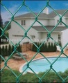 pvc coated chain link fence, vinyl coated diamond fence,chain link fabric