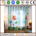 100% polyester windmill 3D printed curtain for kids room