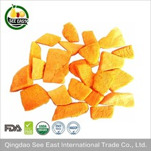 100% Natural fd vegetable freeze dried pumpkin for fast food