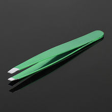 INTERWELL BR34 Wholesale Beauty Supply, Slant Tip Stainless Steel Lady Tweezers